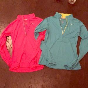 BUNDLE! TWO Like New Nike Dri Fit Sweatshirts 💗💙
